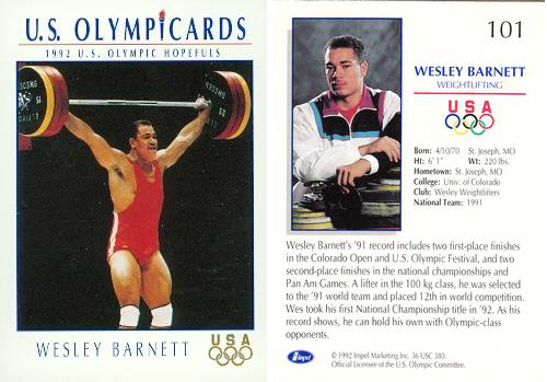wes barnett weightlifting