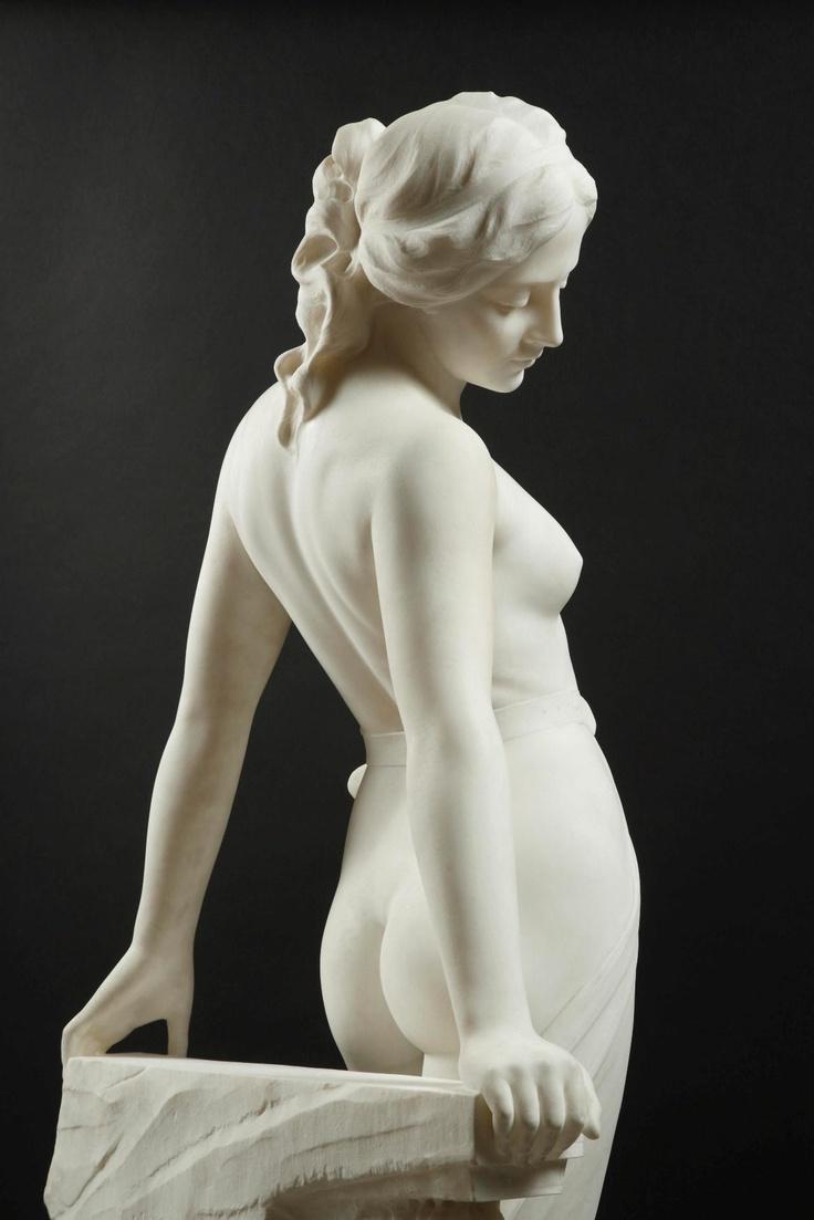 EMILIO FIASCHI (1858-1941) - VEILED FEMALE NUDE_1