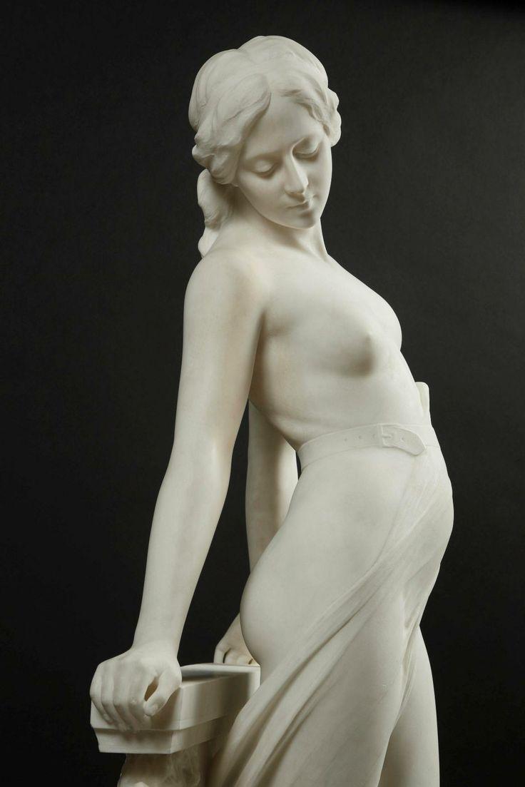 EMILIO FIASCHI (1858-1941) - VEILED FEMALE NUDE_2