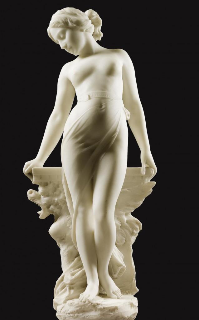 EMILIO FIASCHI (1858-1941) - VEILED FEMALE NUDE_3