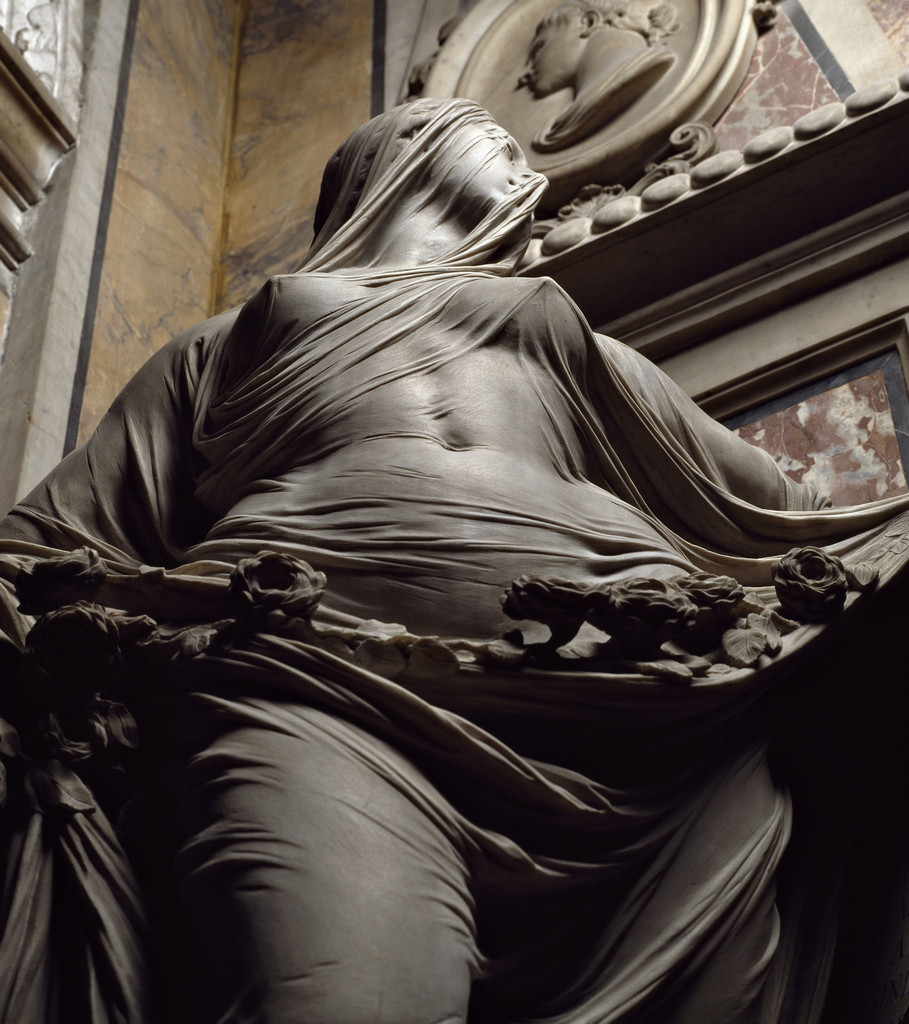 'Modesty' carved in marble by Antonio Corradini, 1751_2