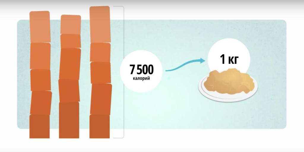 Сжечь 500 калорий это сколько грамм жира