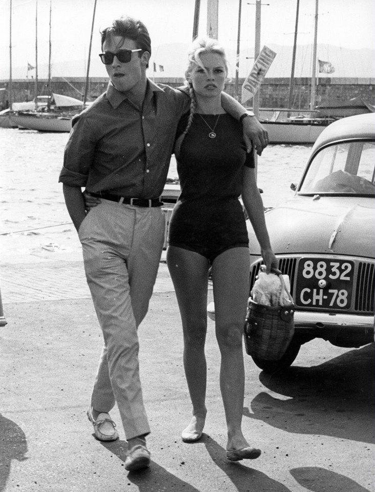 Ален Делон и Бриджит Бардо, 1968год
