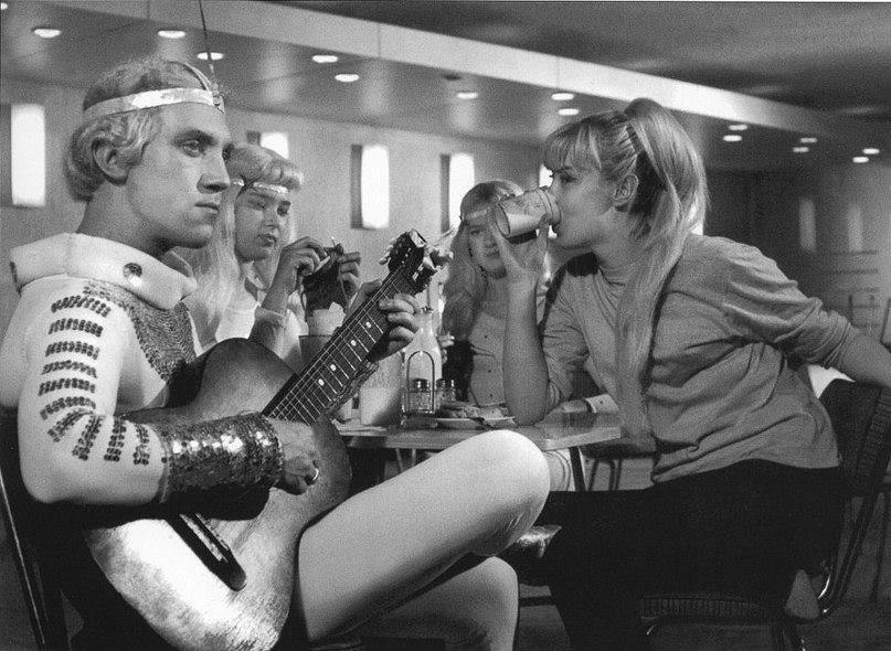 Владимир Высоцкий на съемках фильма «Саша–Сашенька», 1966 год, Минск
