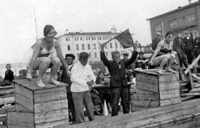 Соревнования по плаванию на Северной Двине, 1935 год, Архангельск