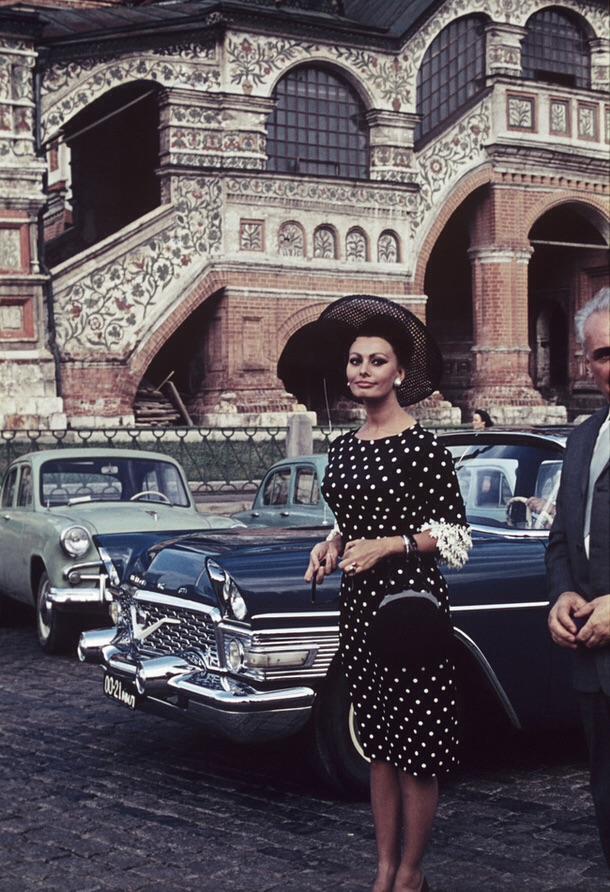 Софи Лорен на Красной площади, 1965 г.