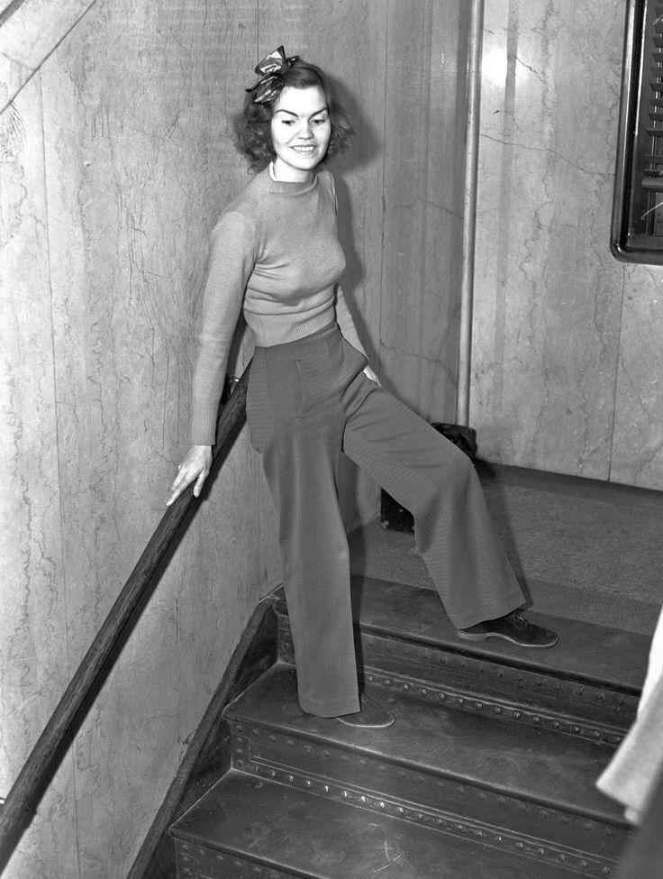 Хелен Хьюлик в брюках, 1938 год, Лос Анджелес