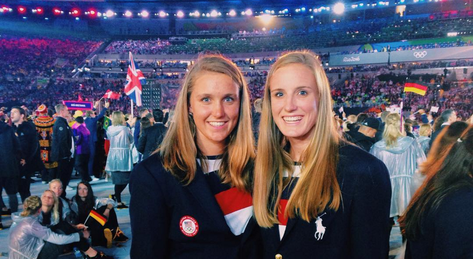 At just 17 and 19 Aria Fischer (left) and sister Makenzie are among the youngest athletes on the US water polo team