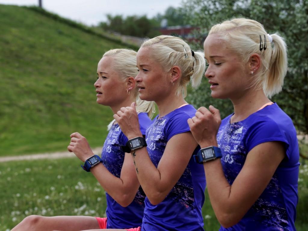 Вы, наверное, видели тройняшек из Эстонии: Лейла, Лина и Лили Luik бежали марафон в Рио.