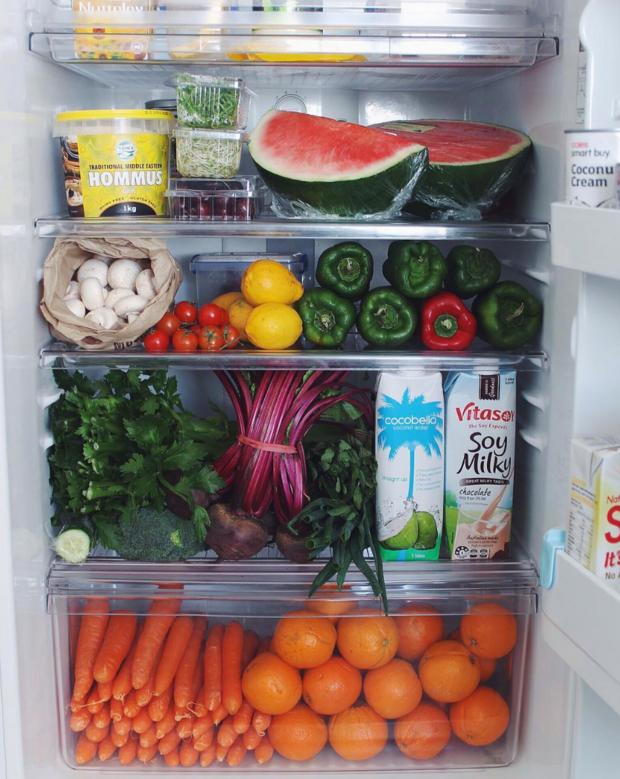 Холодильник вегана внутри