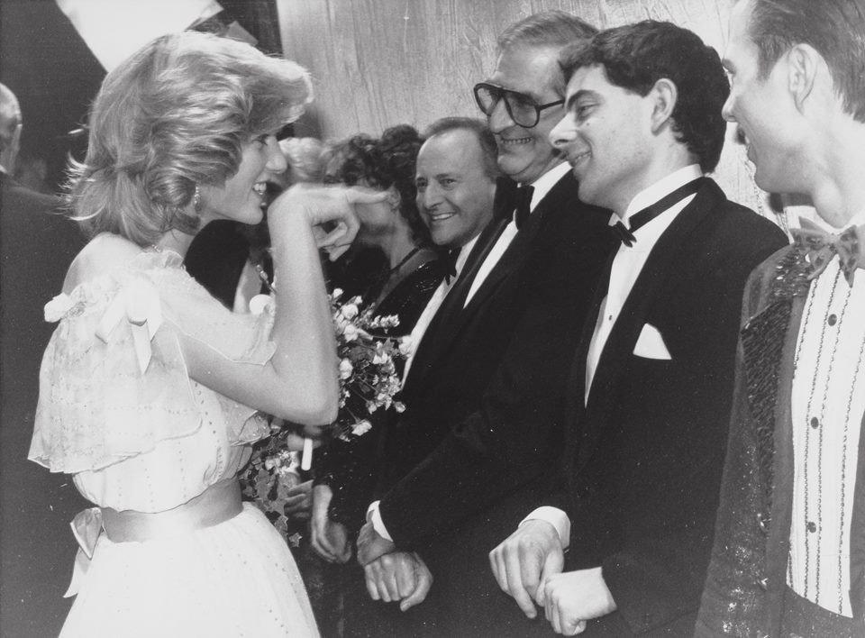 Принцесса Диана и Роуэн Аткинсон, Лондон, 1984 г