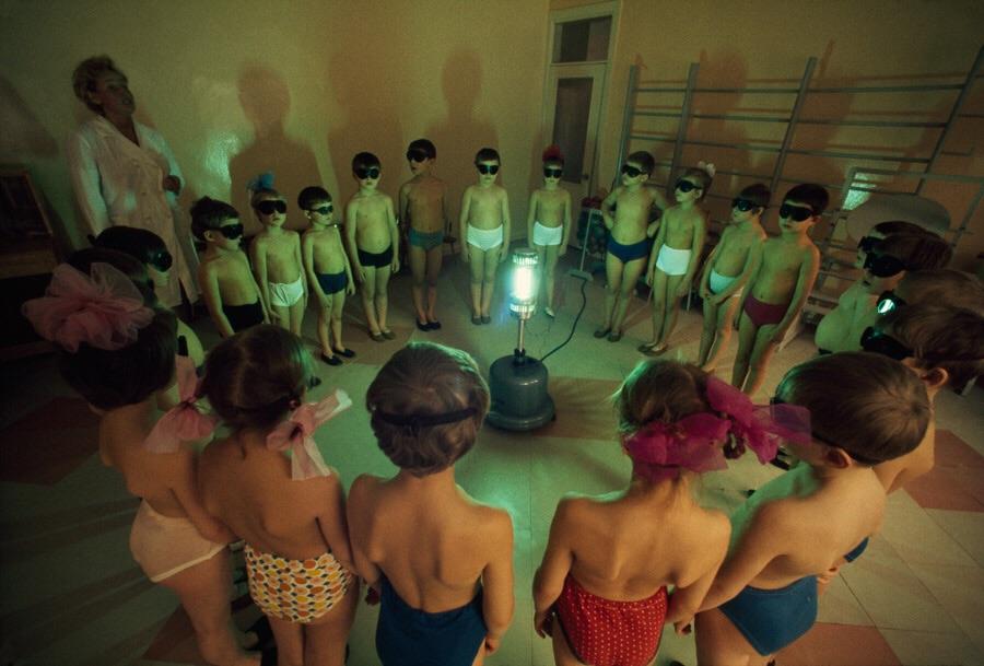 Сеансы облучения ультрафиолетом, Мурманск — СССР, 1970–е годы