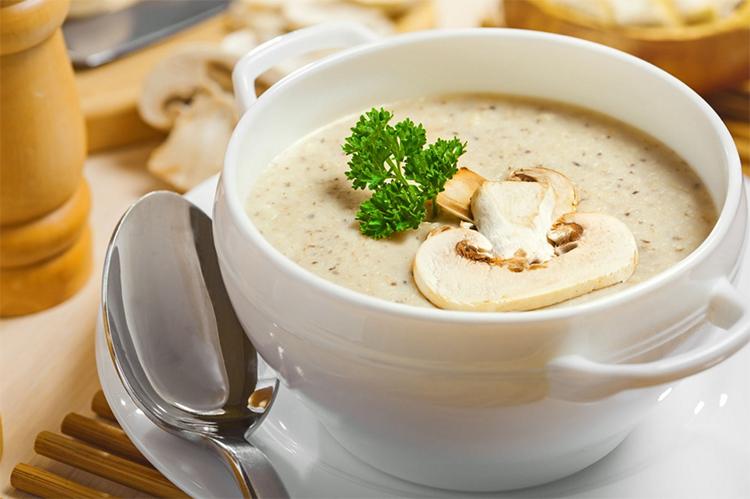 грибной суп капучино