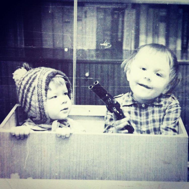 Сергей Шнуров с подружкой, 1970–е годы, Ленинград