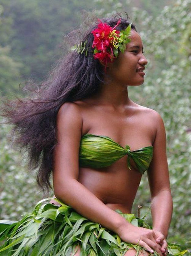 Beautiful tahiti women girl